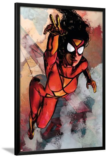 Spider-Woman No.5 Cover: Spider Woman-Alex Maleev-Lamina Framed Poster