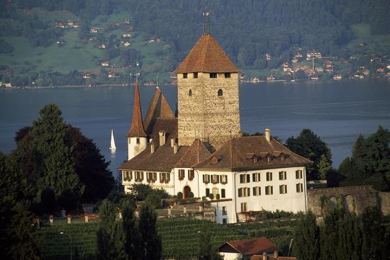 Spiez Castle, Canton of Bern, Switzerland, 12th-17th Centuries--Giclee Print