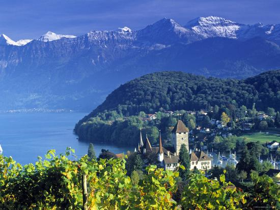 Spiez, Lake Thun, Switzerland-Peter Adams-Photographic Print