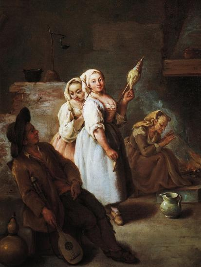 Spinners, 1735-1740-Pietro Longhi-Giclee Print