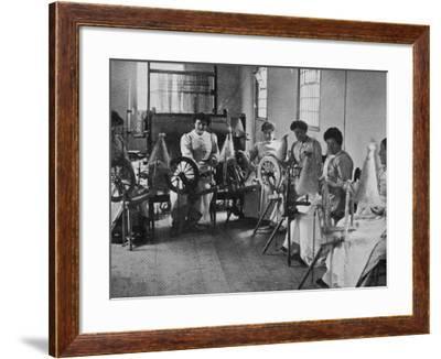 Spinning Flax, Inebriates Reformatory, Guiltcross, Norfolk-Peter Higginbotham-Framed Photographic Print