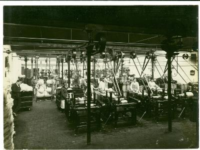 Spinning Mill in Leas, Combing Shed, 1923-English Photographer-Photographic Print