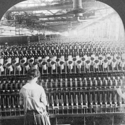 Spinning Room, Philadelphia, Pennsylvania, USA, Late 19th or Early 20th Century--Photographic Print