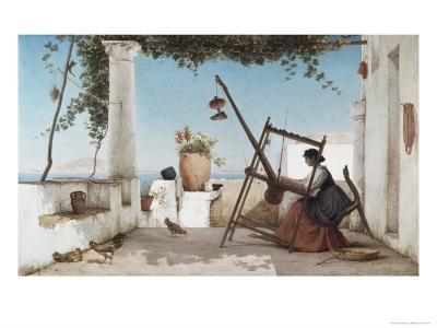 Spinning the Yarn-C. Wilhelm-Giclee Print