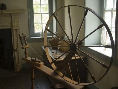 Spinning Wheel in Old Stone House, Georgetown, Washington D.C., USA-John & Lisa Merrill-Photographic Print