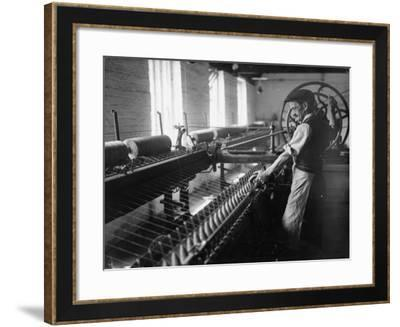 Spinning Yarn--Framed Photographic Print