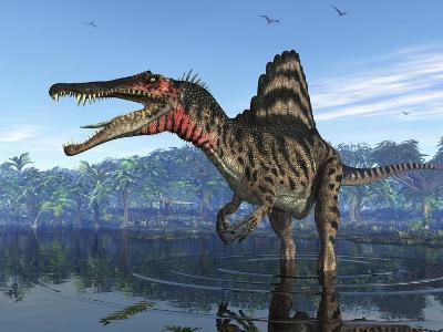 Spinosaurus Dinosaur, Artwork-Walter Myers-Photographic Print