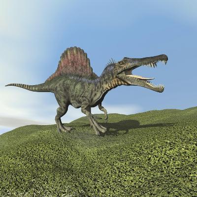 Spinosaurus Dinosaur--Art Print
