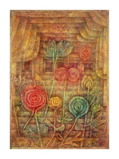 Spiral Flowers-Paul Klee-Giclee Print