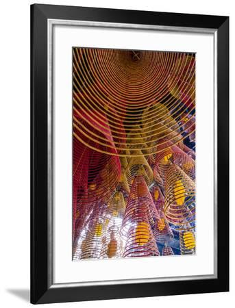 Spiral Incense Sticks at Ong Temple, Can Tho, Mekong Delta, Vietnam, Indochina-Yadid Levy-Framed Photographic Print