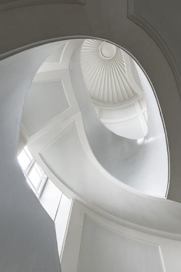 Spiral Modernist Staircase in Warsaw, Poland- Cinematographer-Photographic Print
