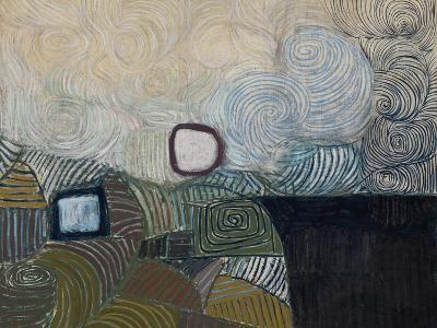 Spiral Motif in Green, Violet, Blue and Gold: the Coast of the Inland Sea-Victor Pasmore-Giclee Print