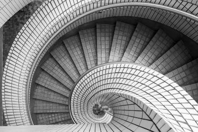 Spiral Staircase, Hong Kong, China-Paul Souders-Photographic Print