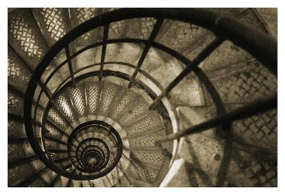 Spiral Staircase in Arc de Triomphe-Christian Peacock-Art Print