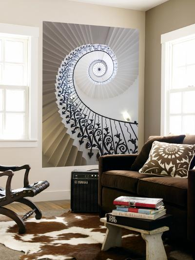 Spiral Staircase, the Queen's House, Greenwich, London, UK-Peter Adams-Wall Mural
