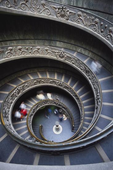 Spiral Staircase, Vatican Musuem, Rome, Italy-Adam Woolfitt-Photographic Print