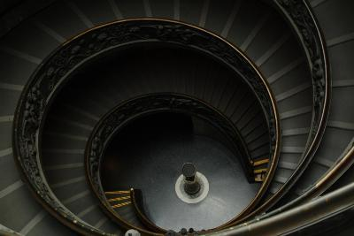 Spiral Stairs-Giuseppe Momo-Giclee Print