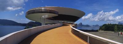 Spiral Walkway at a Museum, Niemeyer Museum of Contemporary Arts, Rio De Janeiro, Niteroi, Brazil--Photographic Print