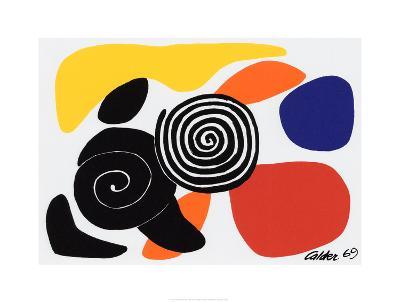 Spirals and Petals, c.1969-Alexander Calder-Serigraph