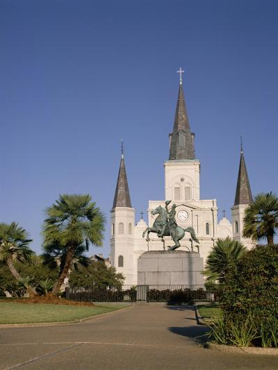 Spires of Christian Cathedral, St. Louis Cathedral, New Orleans, Louisiana, USA-G Richardson-Photographic Print