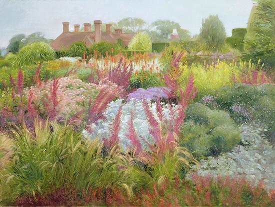 Spires of Kniphofia and Great Dixter-Timothy Easton-Giclee Print