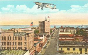Spirit of St. Louis over Pensacola, Florida