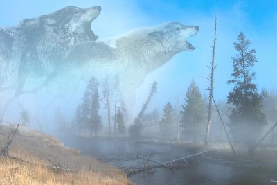 Spirits of Yellowstone-Gordon Semmens-Photographic Print