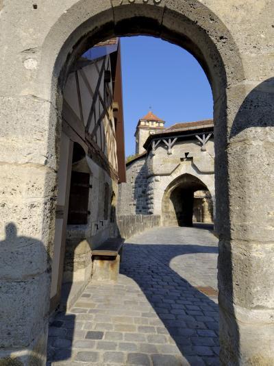 Spitalbastei or Spitaltor, Rothenburg Ob Der Tauber, Bavaria, Germany-Gary Cook-Photographic Print