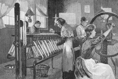 Spitalfields Silk Weavers, 1893-Enoch Ward-Giclee Print