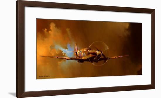 Spitfire-Barrie Clark-Framed Art Print