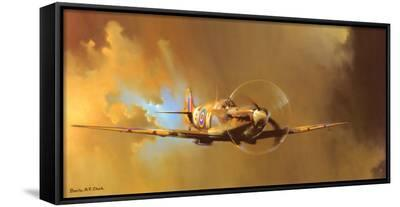 Spitfire-Barrie Clark-Framed Canvas Print