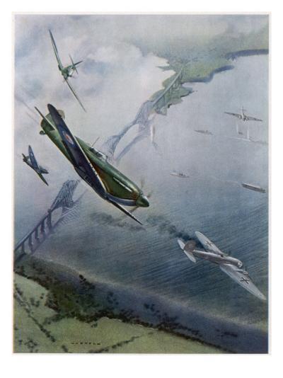 Spitfires over Forth--Giclee Print