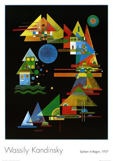 Spitze in Bogen, c.1927-Wassily Kandinsky-Art Print