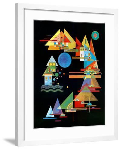 Spitzen In Bogen, c.1927-Wassily Kandinsky-Framed Art Print
