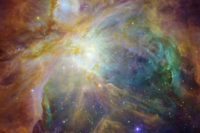 Spitzer and Hubble Create Colorful Masterpiece Space Photo--Art Print