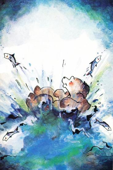 Splash Down - Jack & Jill-Edith Osborn Corbett-Giclee Print