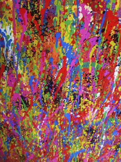 Splash II-Abstract Graffiti-Giclee Print
