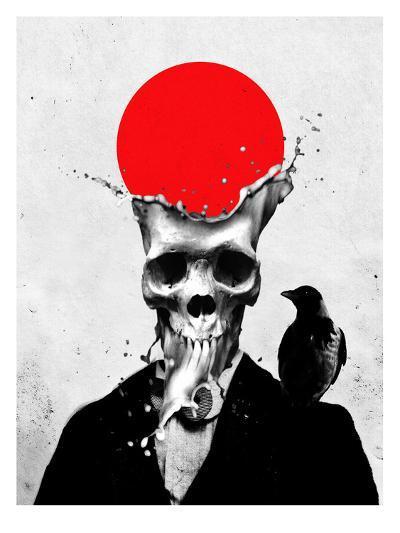 Splash Skull-Ali Gulec-Art Print
