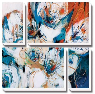 Splashes of Blue-A Fitzsimmons-Canvas Art Set