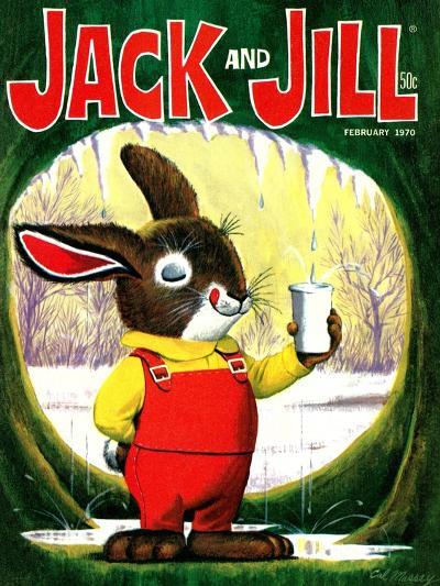 Splashing Into Spring - Jack and Jill, February 1970-Cal Massey-Giclee Print