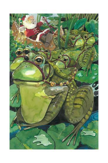Splashing Through the Pond-Denny Bond-Giclee Print