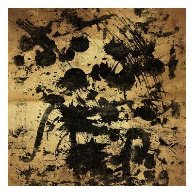 Splatter Gold-OnRei-Art Print