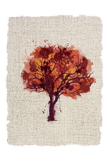 Splatter Trees 2-Kimberly Allen-Art Print