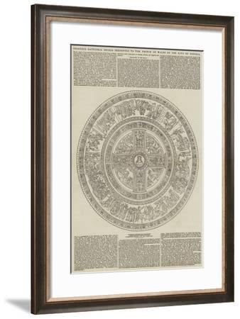 Splendid Baptismal Shield Presented to the Prince of Wales by the King of Prussia--Framed Giclee Print