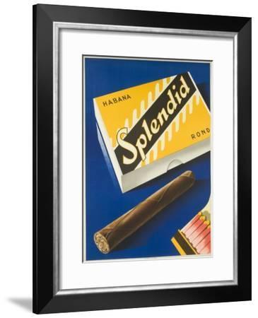 Splendid Cigar, Swiss Advertising Poster--Framed Giclee Print