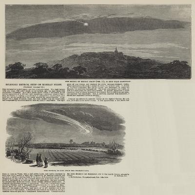 Splendid Meteor, Seen on Monday Night--Giclee Print