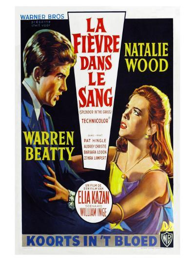 Splendor in the Grass, Belgian Movie Poster, 1961--Art Print