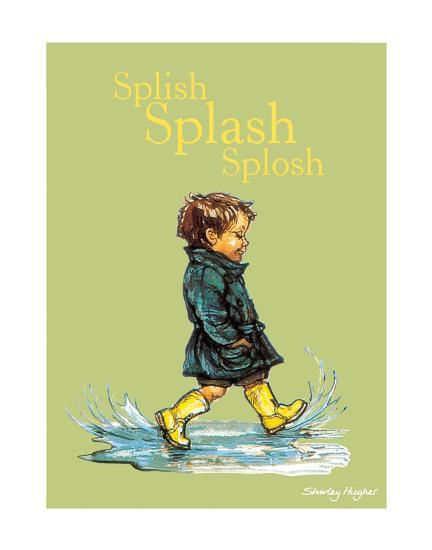 Splish Splash Splosh - Alfie Illustrated Print-Shirley Hughes-Art Print