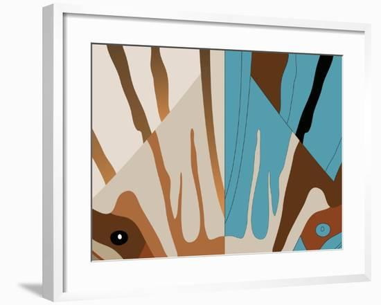 Split Celia-Belen Mena-Framed Giclee Print