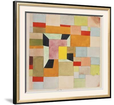 Split Coloured Rectangles-Paul Klee-Framed Art Print